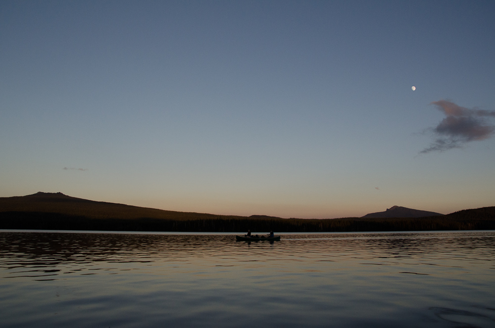 Canoeing by moonlight