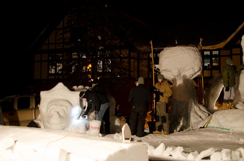 ROTC dinosaur statues underway