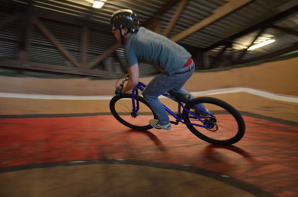 Anthony riding the pumptrack